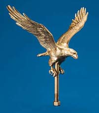 Eagle Ornaments - Gold or Natural Colored